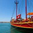 Sailing ship.  Sissi, Crete, Greece - Stock Photo