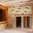 Queen's Megaron. Palace of Knossos, Crete, Greece — Stock Photo