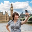 Photograph of herself. London, UK — Stock Photo