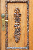 Carved door — Stock Photo