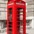 Telephone booth. London, UK — Stock Photo