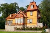 Wooden house. Kuressaare, Estonia — Stock Photo