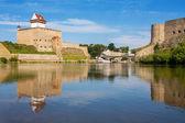 Narva river. Estonian-Russian Border, Europe — Stock Photo