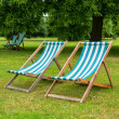 Deckchairs. London, UK — Stock fotografie