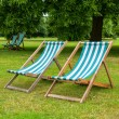 Deckchairs. London, UK — Stockfoto