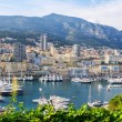 Monte Carlo harbour. Principality of Monaco — Stock Photo #32534019