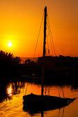 Zachód słońca. el gouna. egipt — Zdjęcie stockowe
