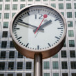 Canary Wharf Clock. London, UK — Stok fotoğraf