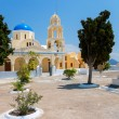 Orthodox church. Oia, Santorini, Greece — Stock Photo
