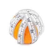 Orange with tape — Foto Stock