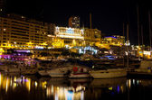 Monaco at night. Monte Carlo — Stock Photo