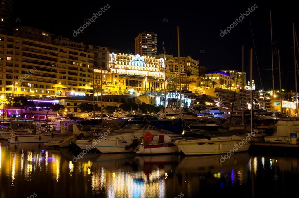 Monaco durante la notte monte carlo foto stock arsty for Porto montecarlo