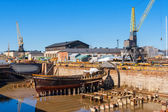 Old dry dock. Suomenlinna island, Finland — Stock Photo