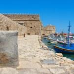 Heraklion harbour and castle. Crete, Greece — Stock Photo