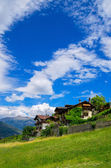 Houses in Aosta Valley. Alps, Italy — Stock Photo
