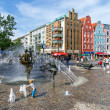 The Joy of Living fountain. Rostock, Germany — Stock Photo