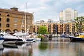St Katharine's Dock. London, England — Stock Photo