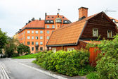 Houses at Sodermalm in Stockholm. Sweden — Stock Photo