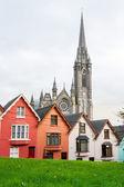 Terraced houses. Cobh, Ireland — Stock Photo
