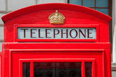 Telephone booth. London, England — Stock Photo