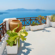 Sea view terrace. Fira, Santorini, Greece — Stock Photo #50860735