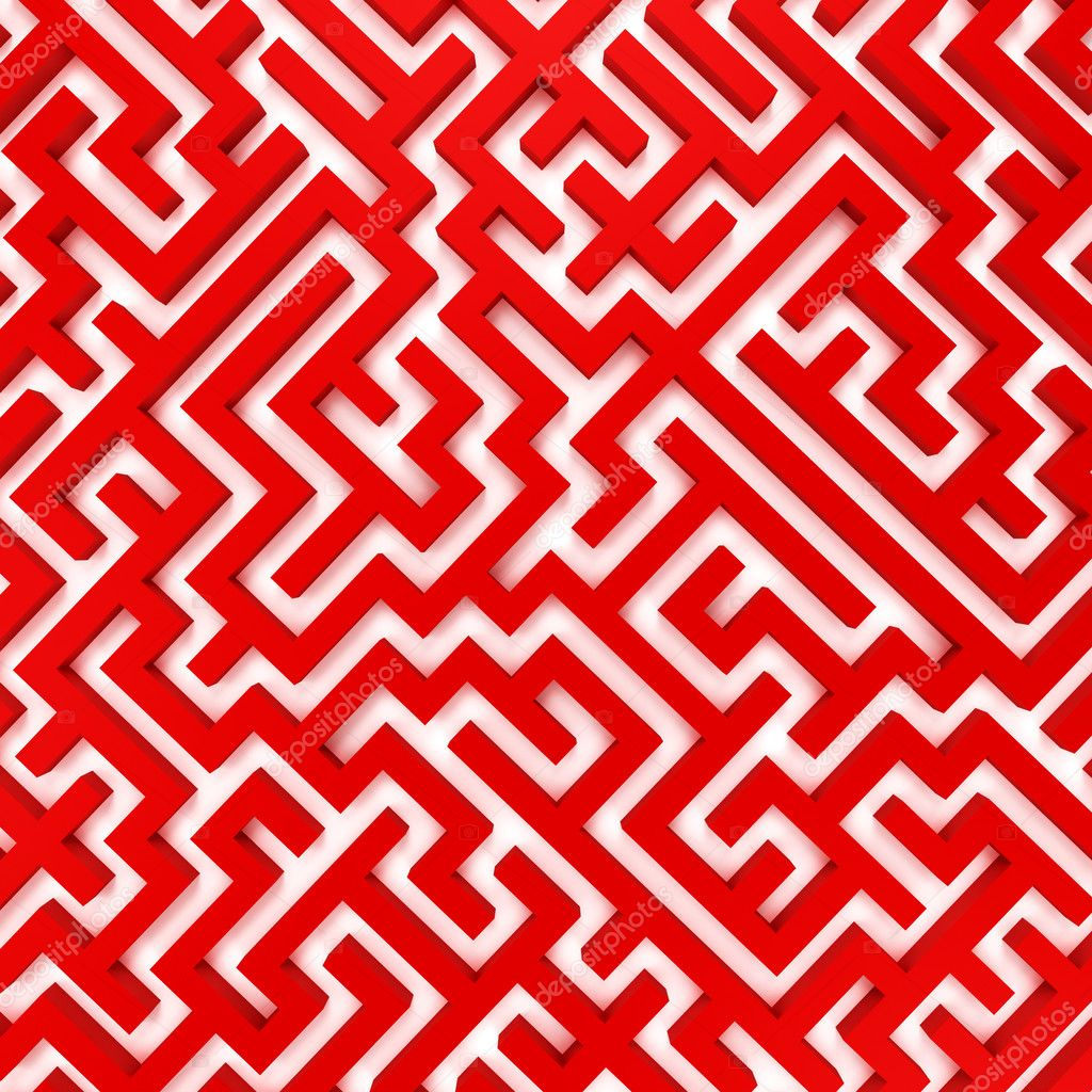 Simple Maze Designs Of simple red maze - stock