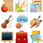 jeu d'icônes de l'éducation — Vecteur #1584849