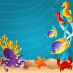Sea bottom — Stock Vector
