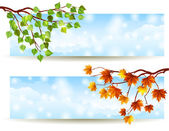 Branch banners — Stock Vector
