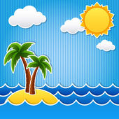Tropical island — Stock Vector