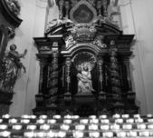 Catholic church interior details — Stock fotografie
