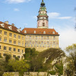 View of Cesky Krumlov in spring. Czech republic - Stock Photo
