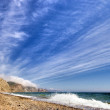 Sea landscape with waves and clouds — Stock Photo #41639755