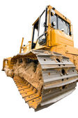 The heavy dirty building bulldozer of yellow color — Stock Photo