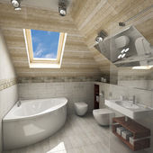 モダンなバスルームのインテリア — ストック写真