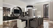 Luxury modern interior in daylight — Стоковое фото