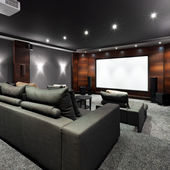 Home theater interior — Stock Photo