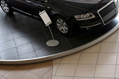 New car in showroom for sale — Stock Photo