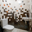 Design of a simple toilet room — Stock Photo