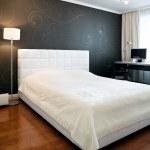 New modern bedroom interior — Stock Photo