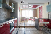 Yeni, modern bir mutfak iç — Stok fotoğraf