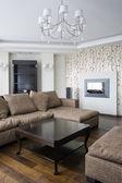 Interior of a new living room — Stockfoto