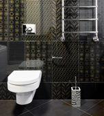 Nová domácí místnost v černých barvách — Stock fotografie