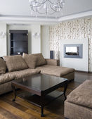 Interior of a new living room — Stock Photo