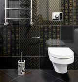 New domestic room in black colors — Stock Photo