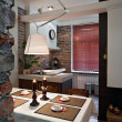 Foto Stock: Interior of cosy kitchen