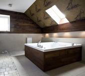 新しいモダンなバスルームのインテリア — ストック写真