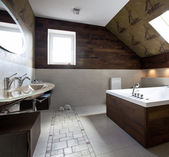 New modern bathroom interior — Foto de Stock