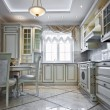 Luxury kitchen interior — Stock Photo