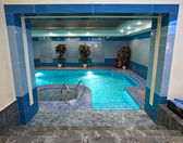 Swimming pool interior — Stock Photo